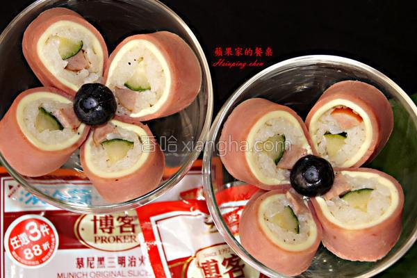 日式火腿起司饭团的做法
