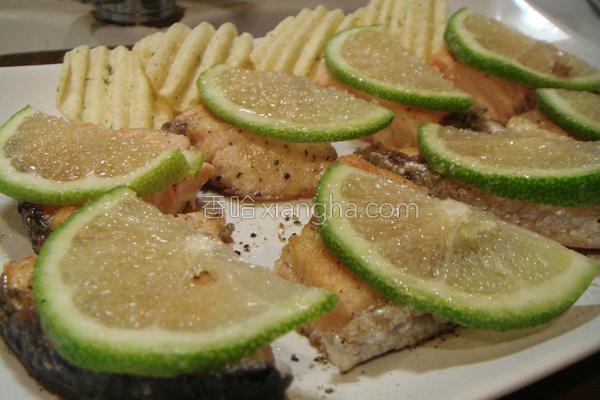 柠檬糖鲑鱼煎的做法