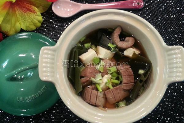 海带豆腐腰花汤的做法