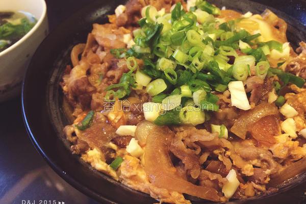日式牛肉丼饭的做法