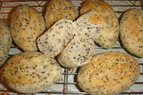 芝麻面包的做法