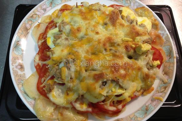 鲔鱼马铃薯披萨的做法