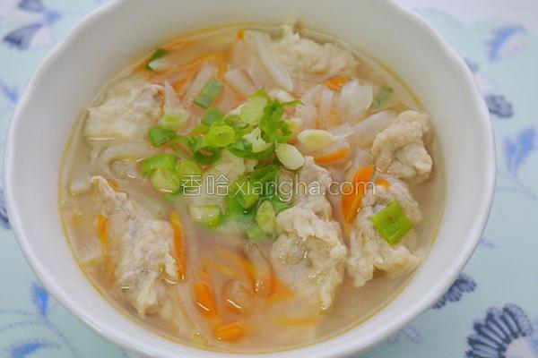 萝卜肉羹汤的做法
