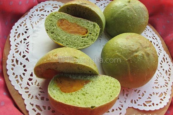 抹茶地瓜面包的做法