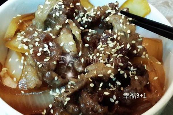 日式烧肉丼饭的做法