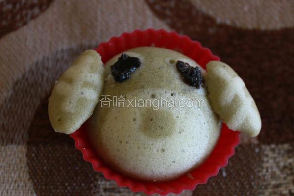 绿茶犬蒸蛋糕
