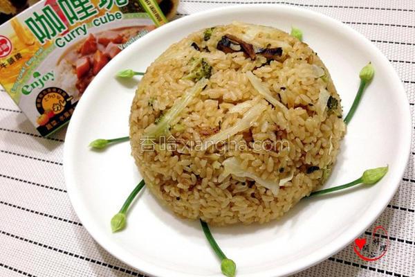 电锅咖哩菜饭的做法