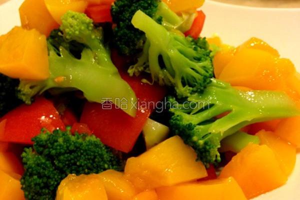 风水蜜桃蔬菜沙拉的做法