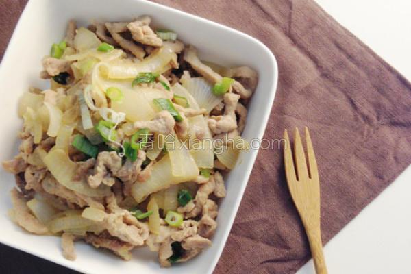 椰香洋葱炒肉丝的做法