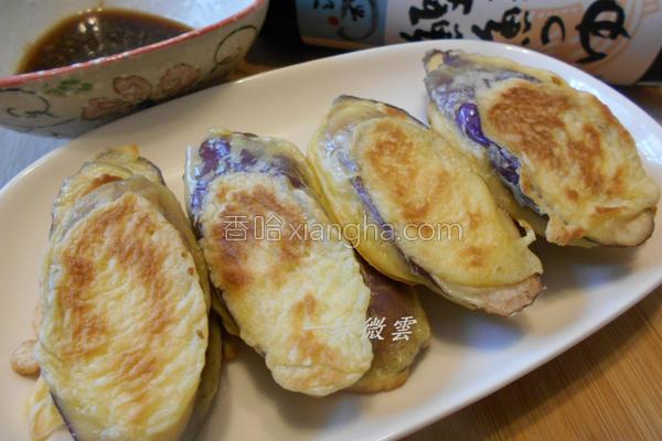 香煎紫茄饼的做法