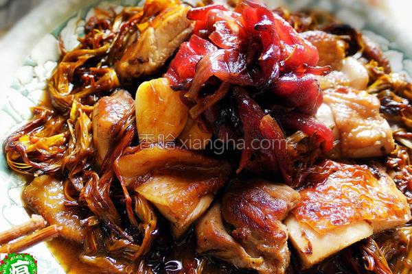 料理金针洛神煲鸡的做法