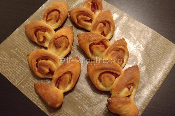 培根麦穗面包的做法