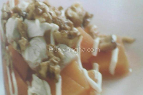 木瓜鸡肉沙拉的做法