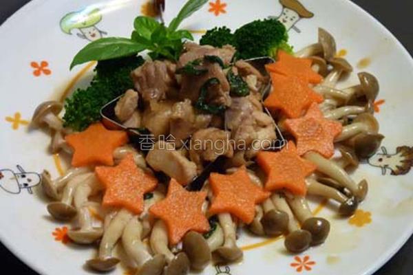 三杯菇菇鸡的做法