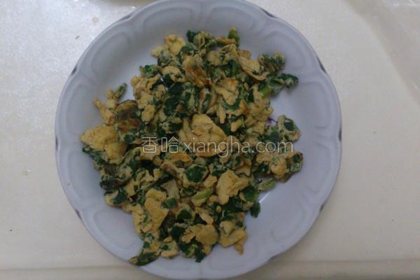 波菜煎蛋的做法