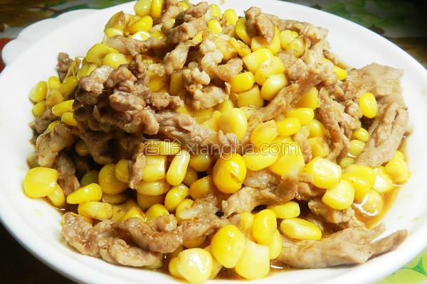沙茶玉米肉丝的做法