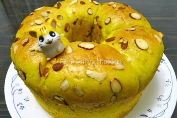 南瓜坚果面包的做法