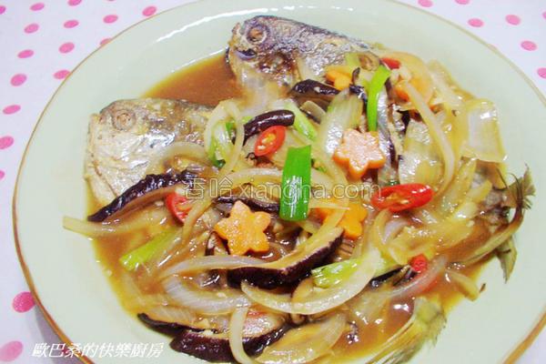 红烧肉鲳鱼的做法