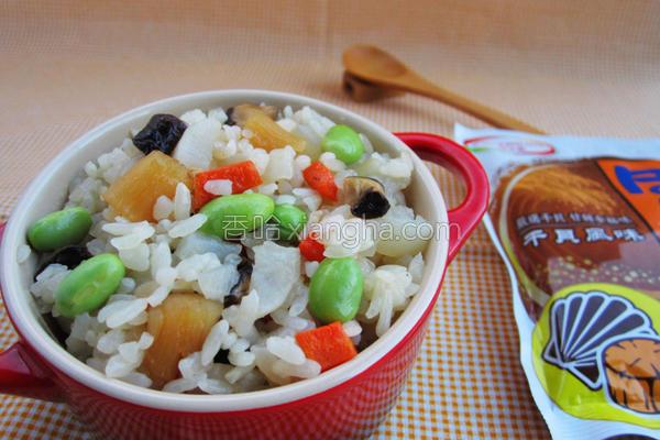 白玉干贝炊饭的做法