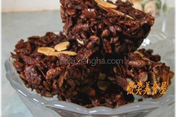 杏仁巧克力酥片的做法