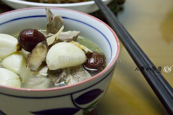 养生蒜头鸡汤的做法