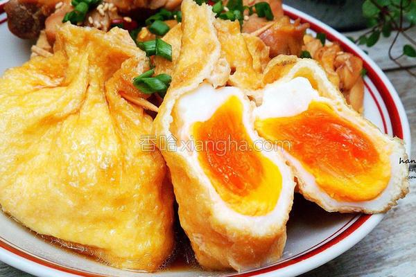 巾着蛋鸡肉煮的做法