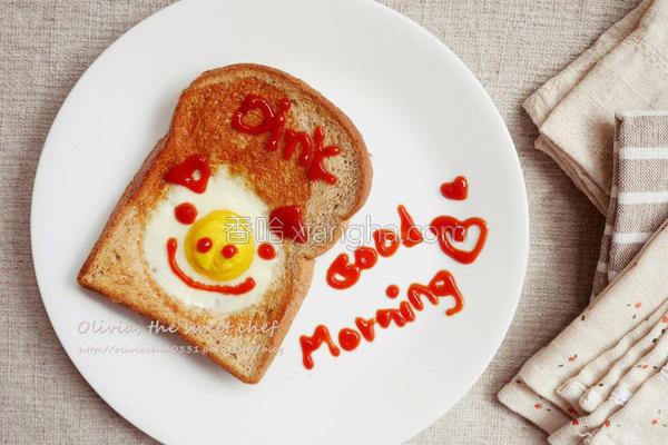 早安小猪烤蛋吐司的做法