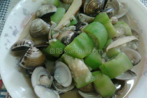 丝瓜炒蛤蜊的做法