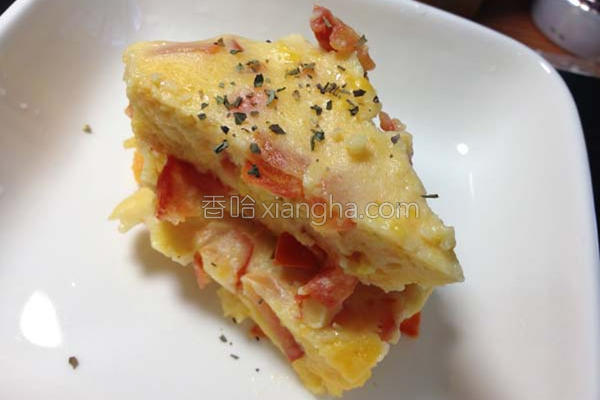 番茄起司烘蛋的做法