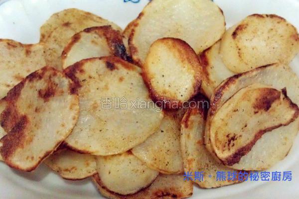 椒盐马铃薯片的做法