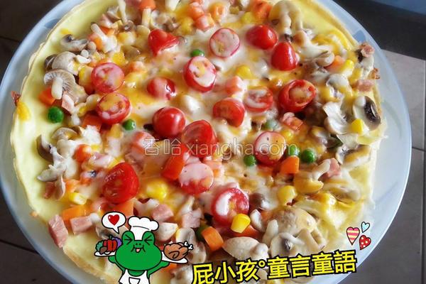 蛋皮菇菇披萨的做法