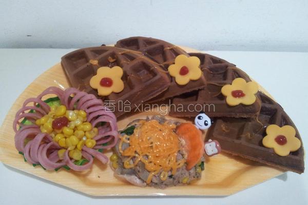 鲔鱼洋葱松饼的做法