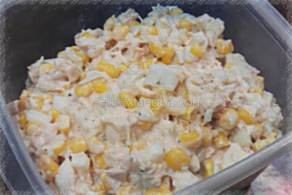鲔鱼玉米沙拉的做法