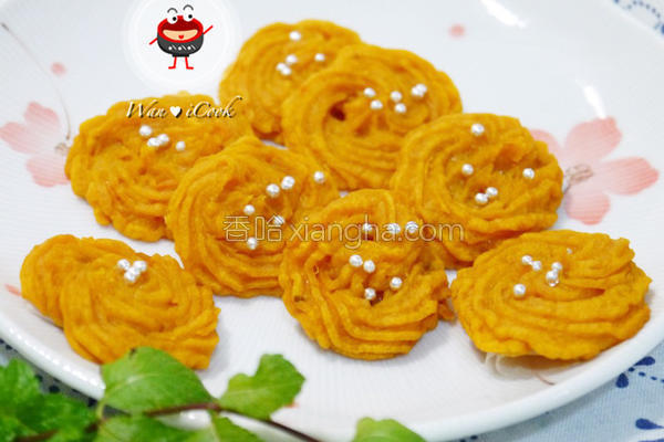 黄金玫瑰地瓜饼的做法