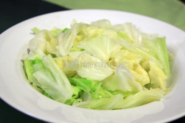 清炒高丽菜的做法