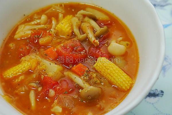 番茄蔬菜燕麦浓汤的做法