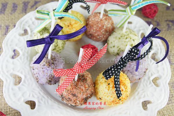 彩米棒棒糖的做法