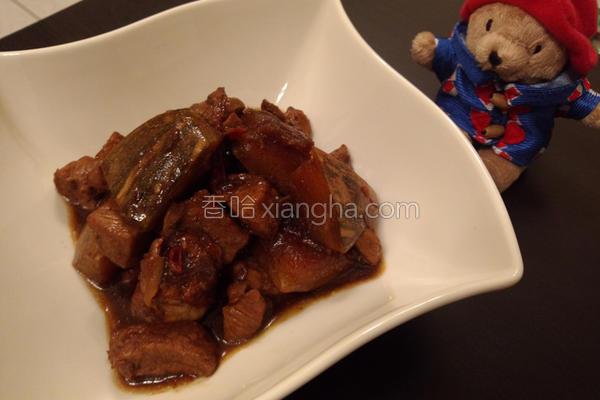 酱烧南瓜猪肉的做法
