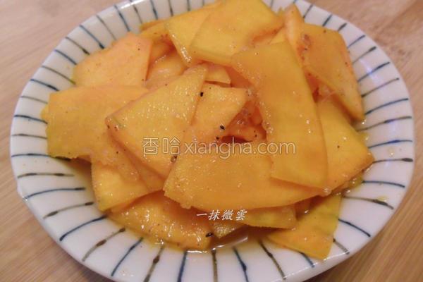 姜汁凉拌南瓜的做法