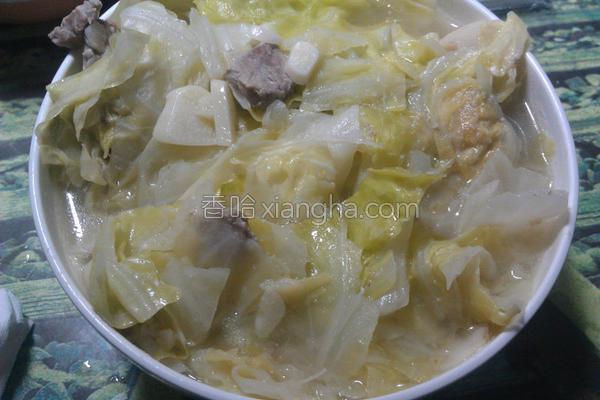 猪肉味噌高丽菜汤的做法