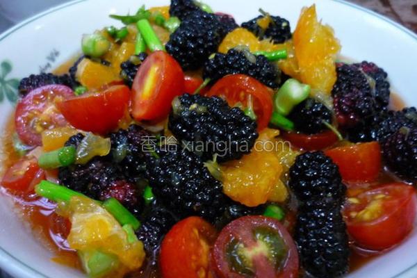 桑椹水果沙拉的做法