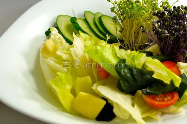 风生菜沙拉的做法