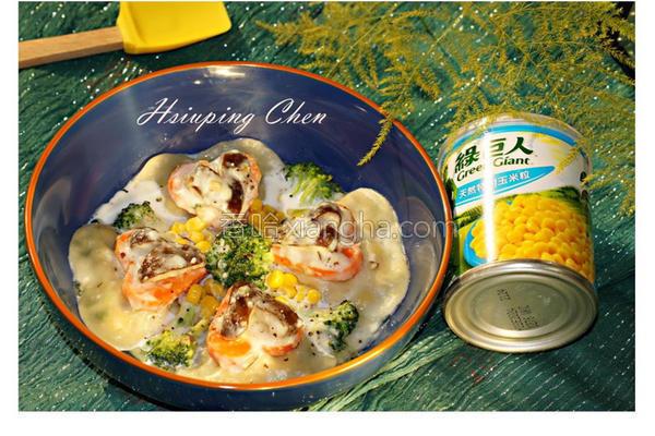 心型玉米饺的做法