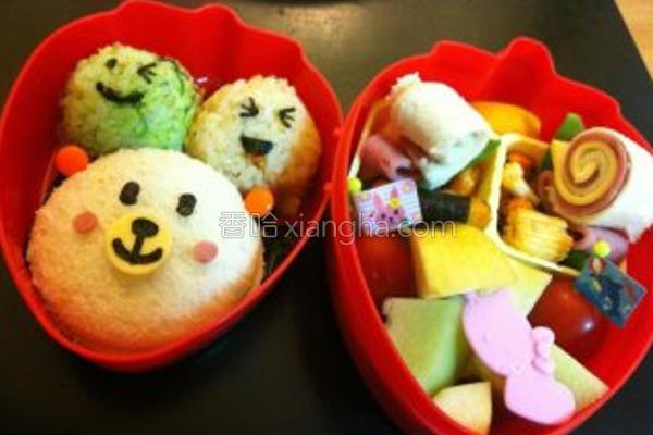 小熊野餐便当的做法