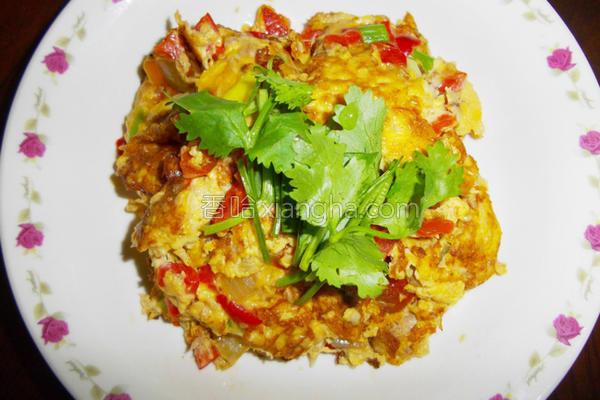 彩椒鲔鱼烘蛋的做法