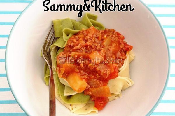 番茄意大利肉酱面的做法