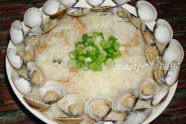 食蔬蛤蜊鸡肉炊饭的做法