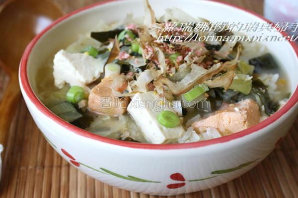 鲑鱼味噌饭定食的做法