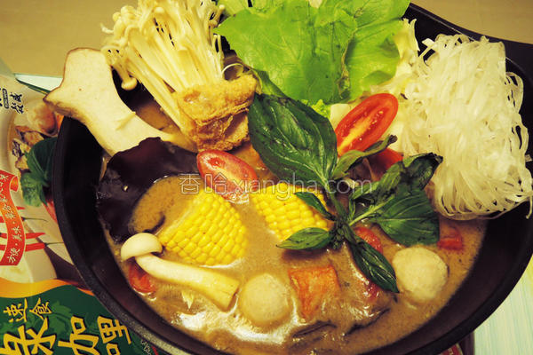 泰式椰浆咖哩火锅的做法