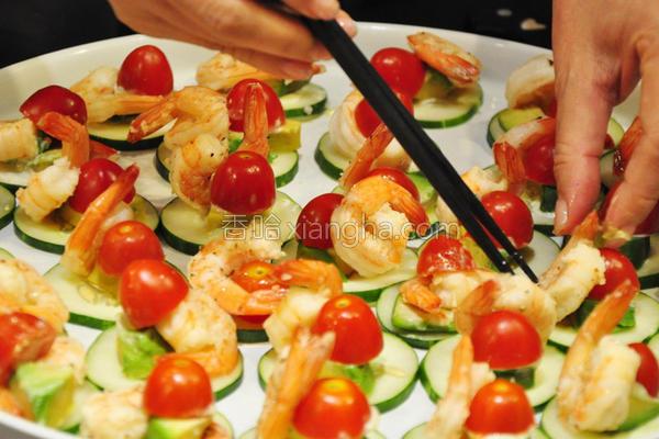 鲜虾酪梨前菜的做法